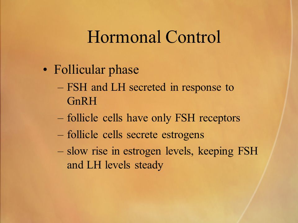 Hormonal Control Follicular phase