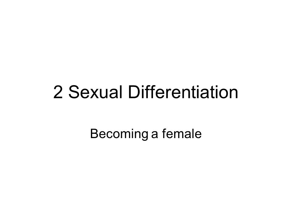 2 Sexual Differentiation