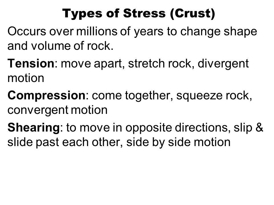 Types of Stress (Crust)