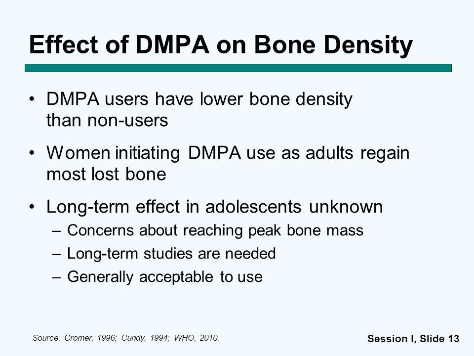 Effect of DMPA on Bone Density