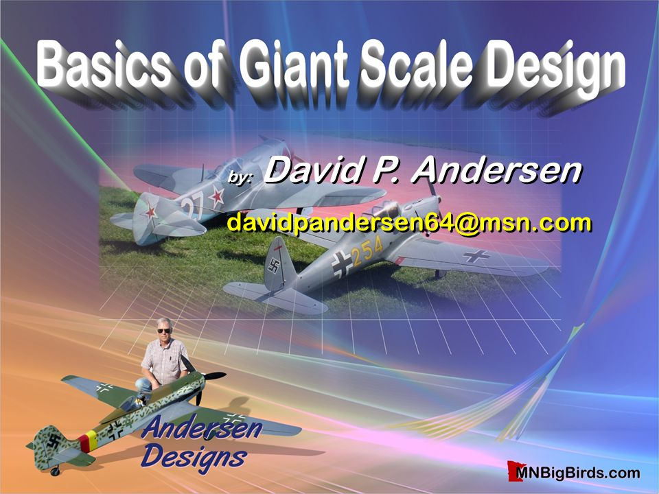 by: David P. Andersen davidpandersen64@msn.com