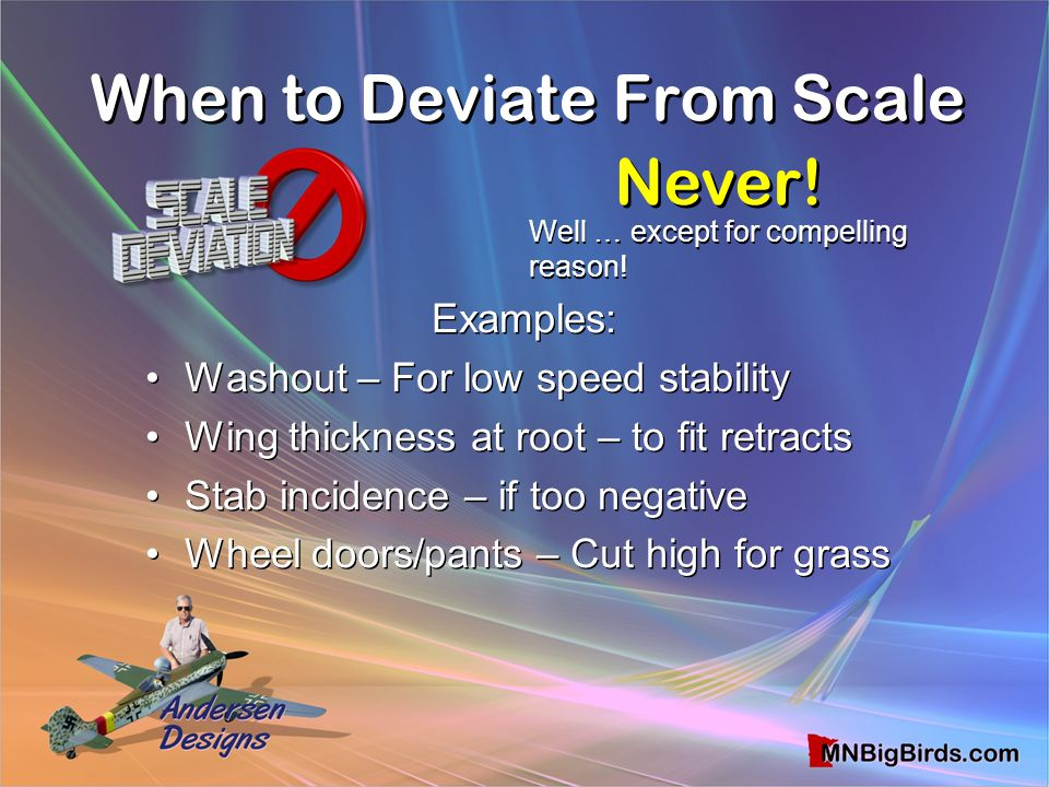 When to Deviate From Scale