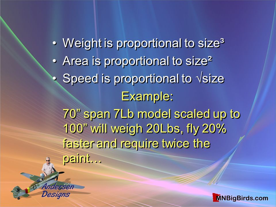 Weight is proportional to size³