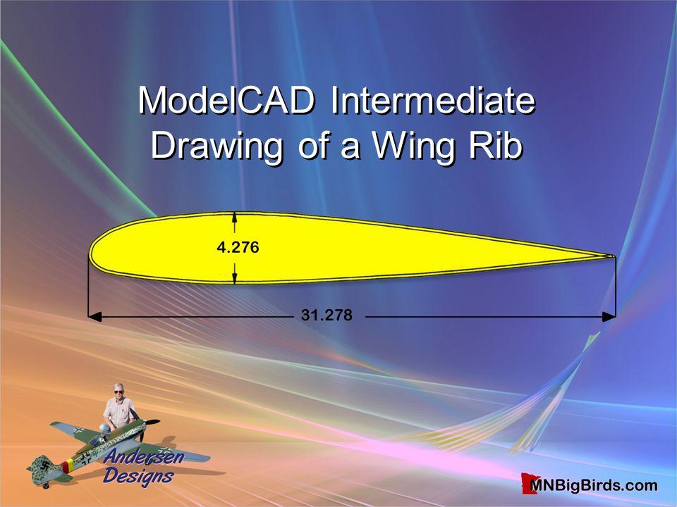 ModelCAD Intermediate Drawing of a Wing Rib