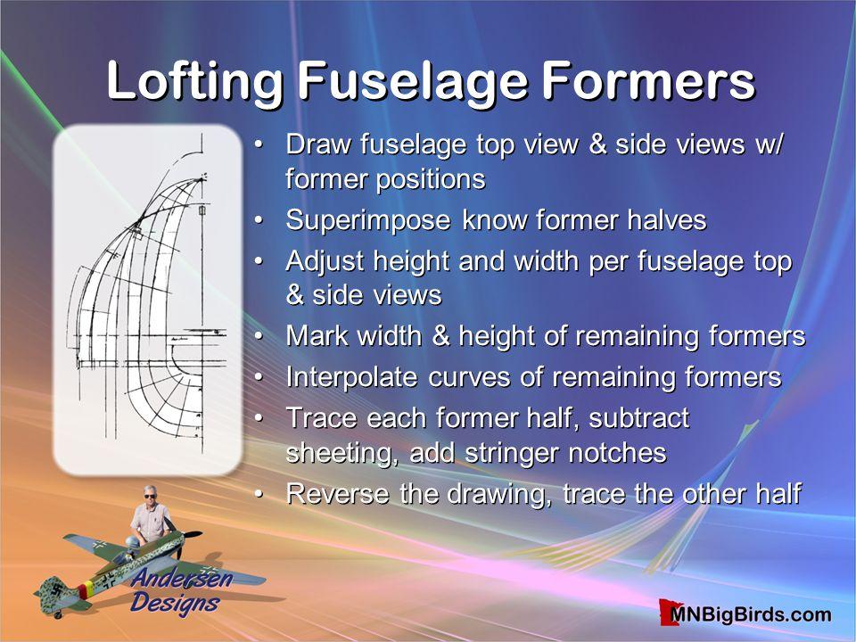 Lofting Fuselage Formers