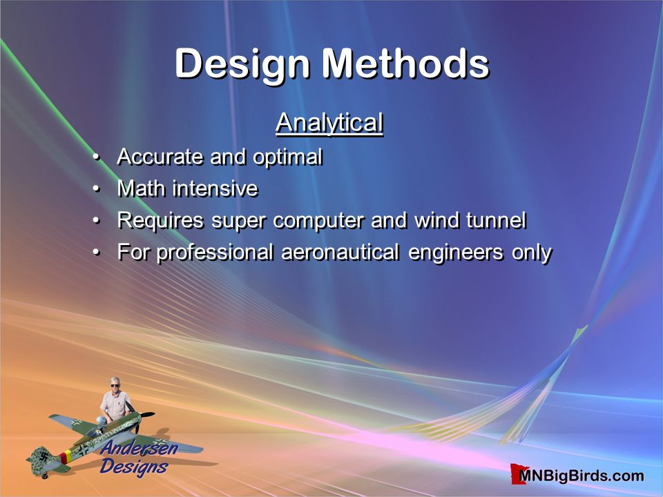 Design Methods Analytical Accurate and optimal Math intensive