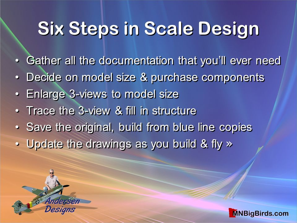 Six Steps in Scale Design
