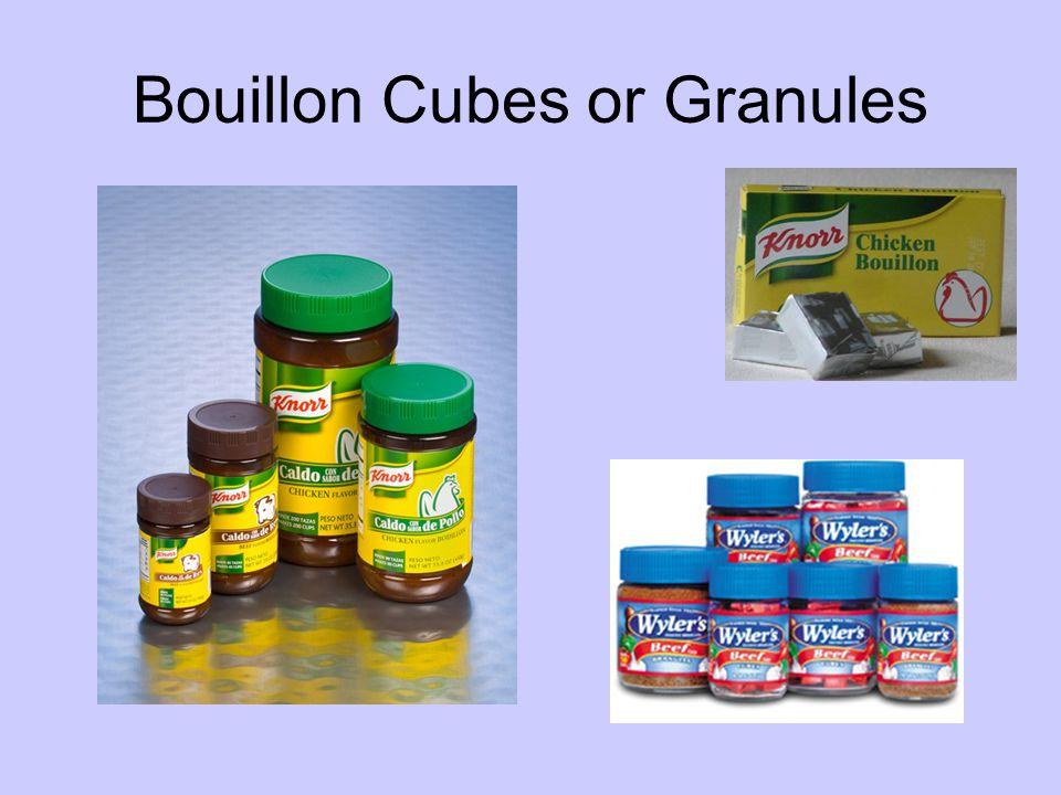 Bouillon Cubes or Granules