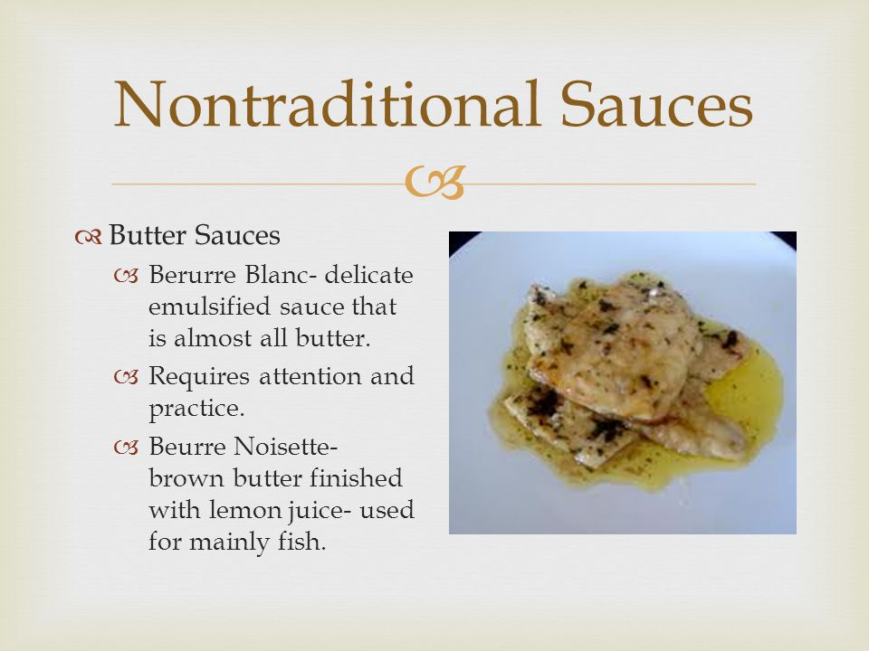 Nontraditional Sauces
