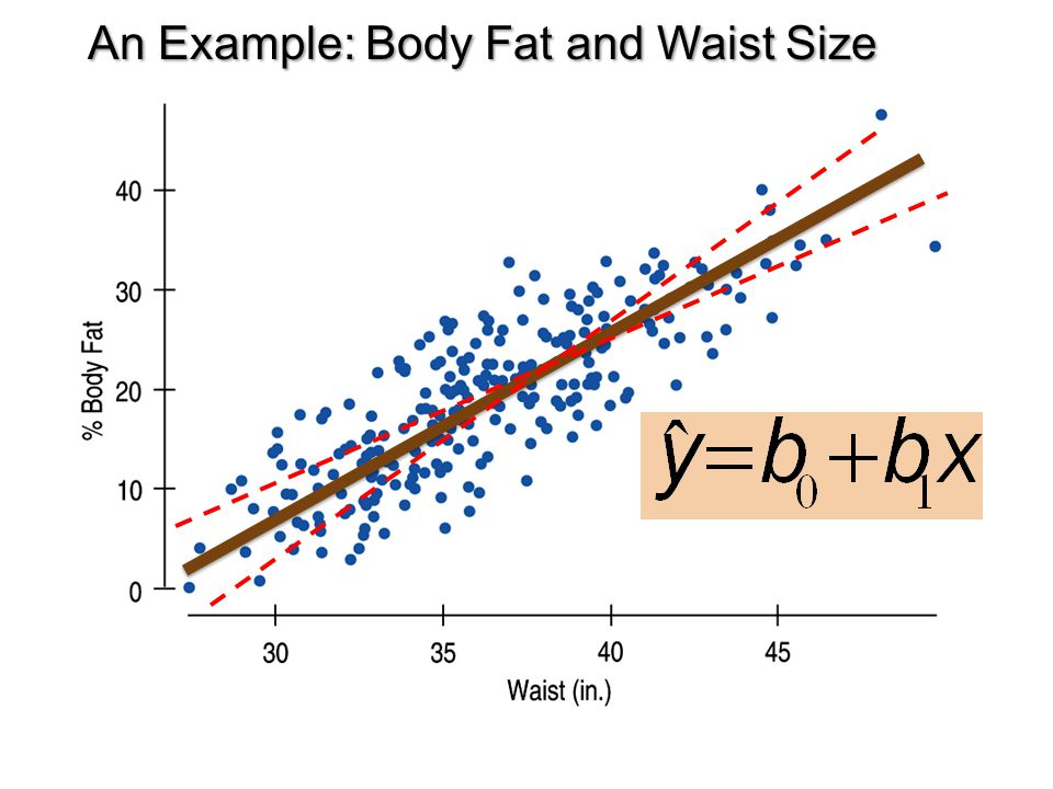 An Example: Body Fat and Waist Size