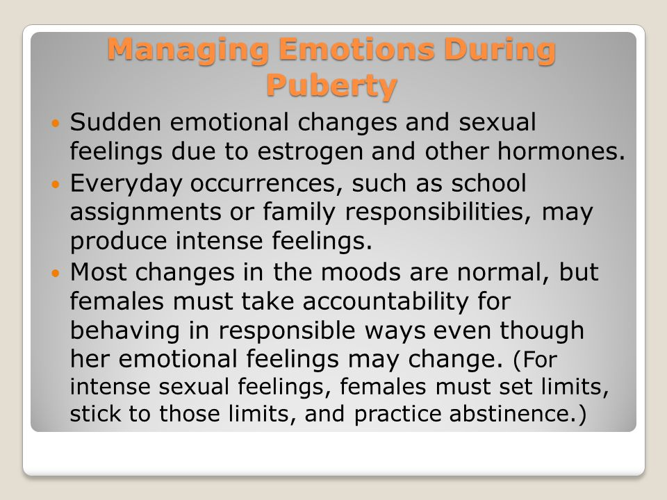 Managing Emotions During Puberty