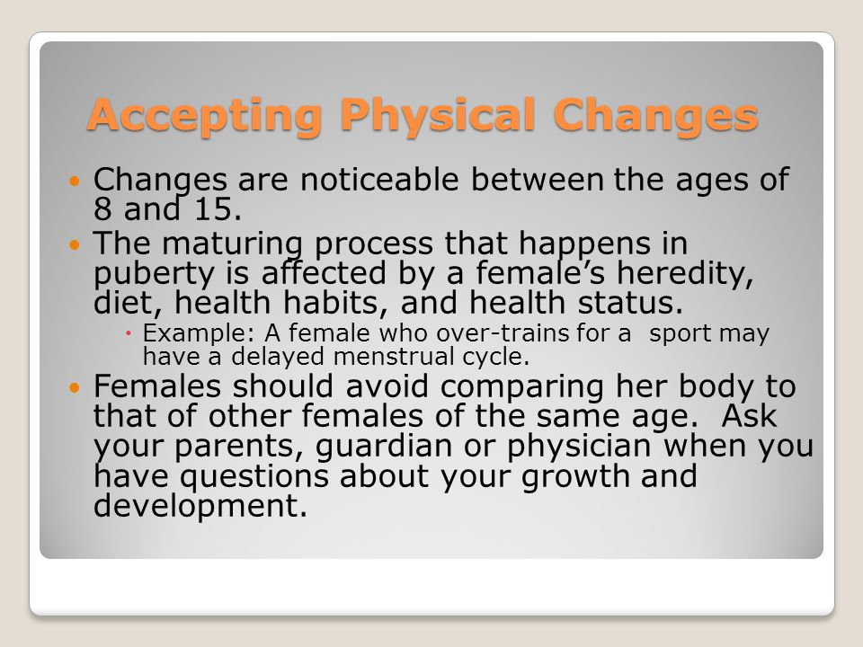 Accepting Physical Changes