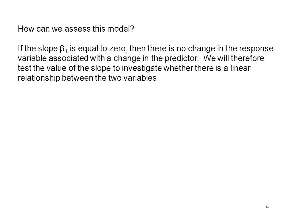 How can we assess this model