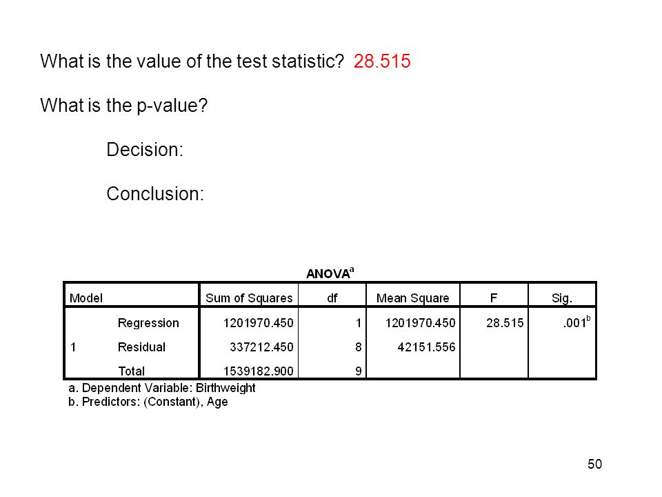 What is the value of the test statistic