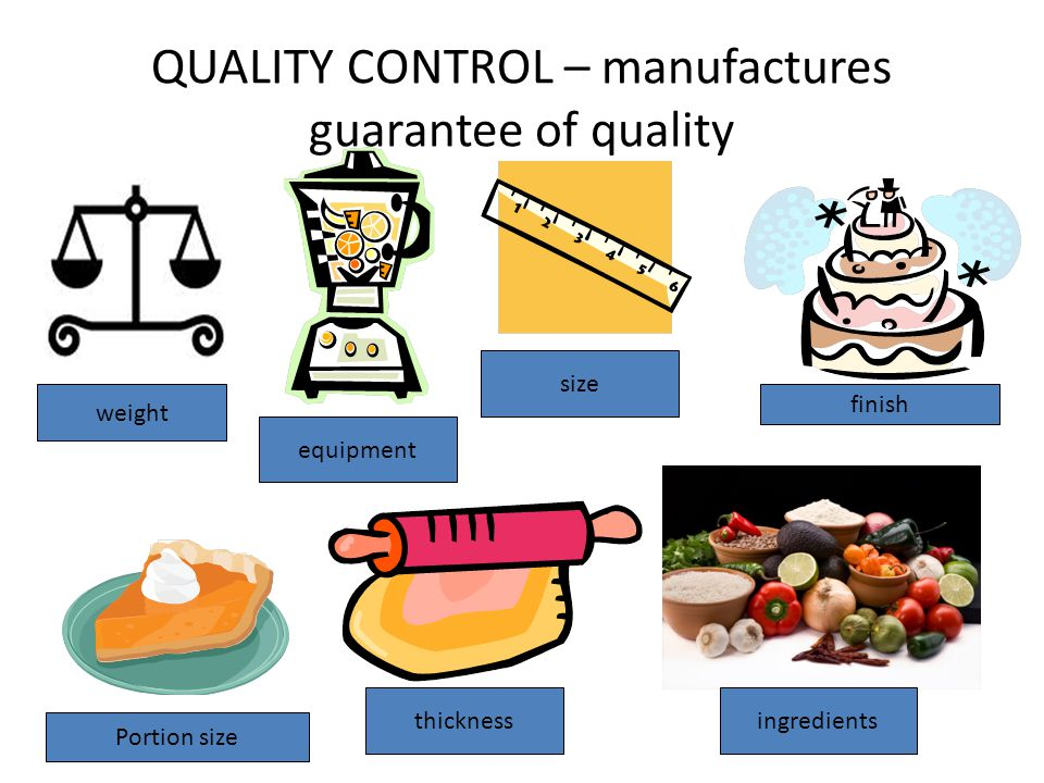 QUALITY CONTROL – manufactures guarantee of quality