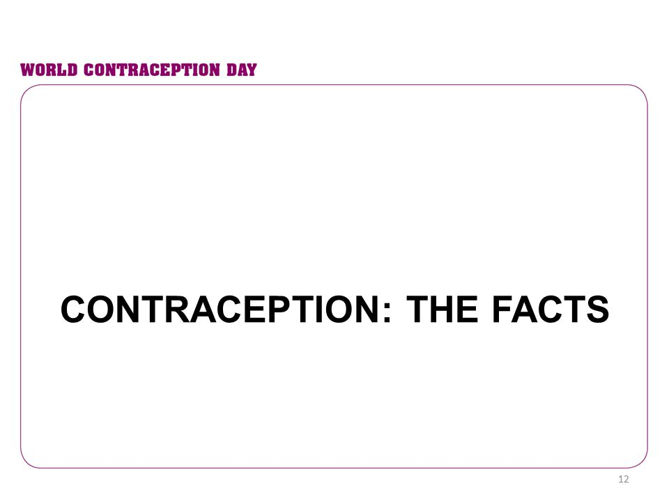 Contraception: The facts