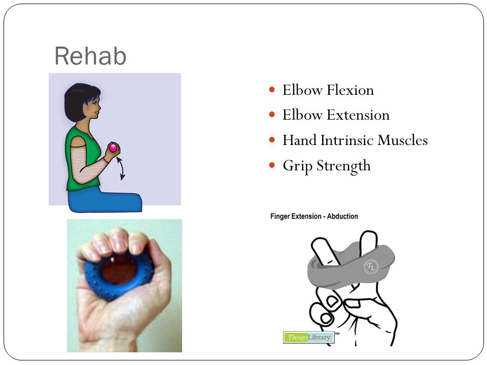 Rehab Elbow Flexion Elbow Extension Hand Intrinsic Muscles