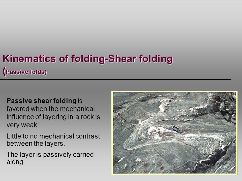 Kinematics of folding-Shear folding (Passive folds)