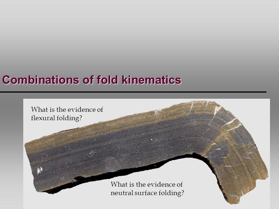 Combinations of fold kinematics