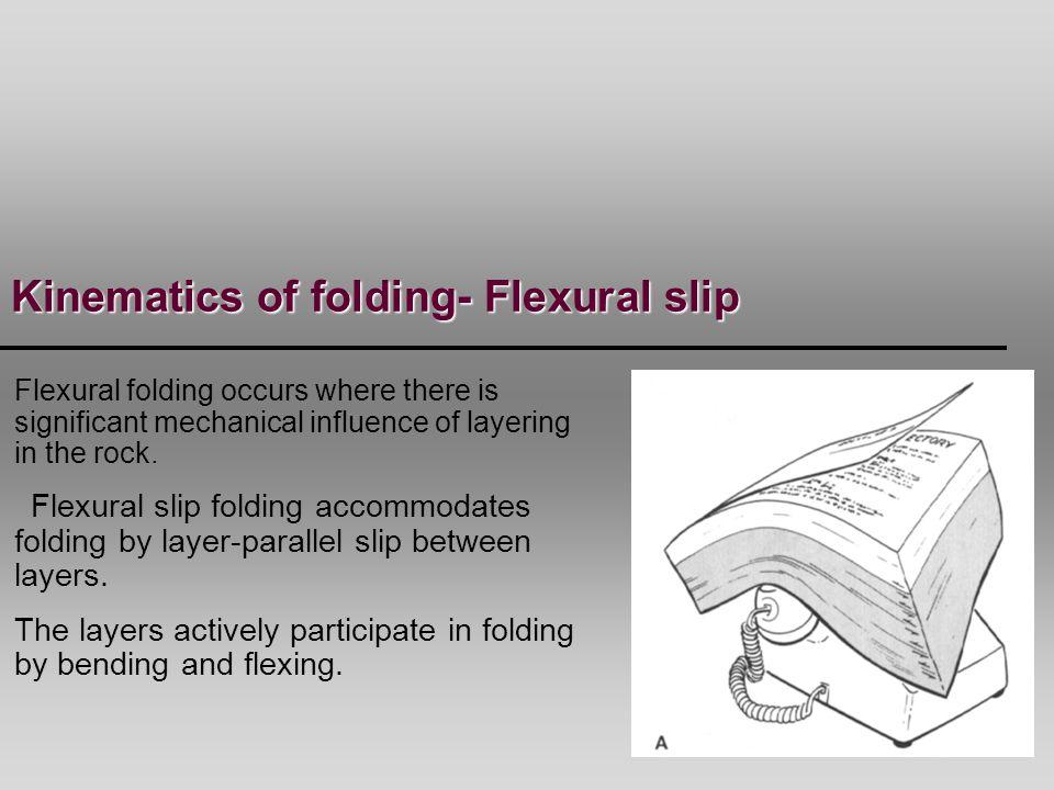 Kinematics of folding- Flexural slip