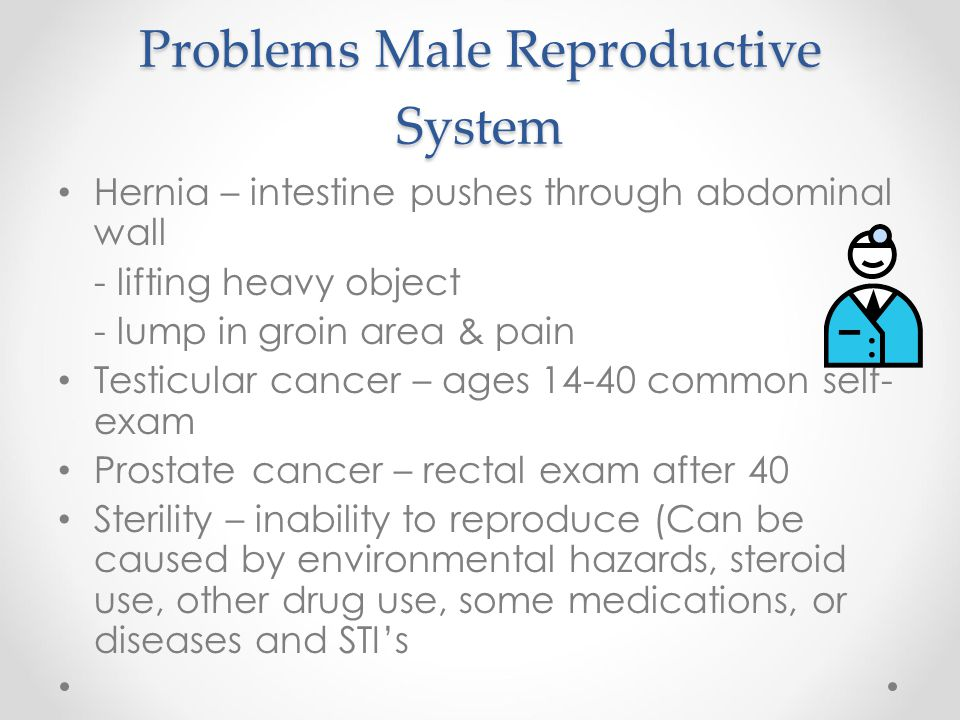 Problems Male Reproductive System