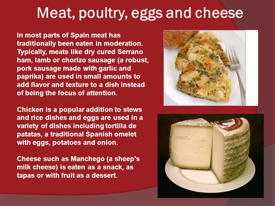 Meat, poultry, eggs and cheese