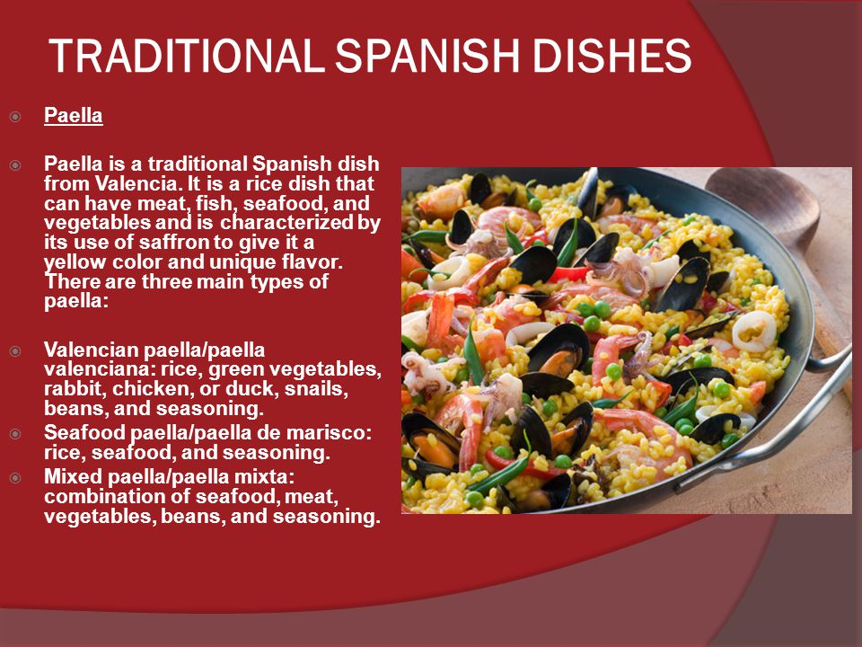 TRADITIONAL SPANISH DISHES