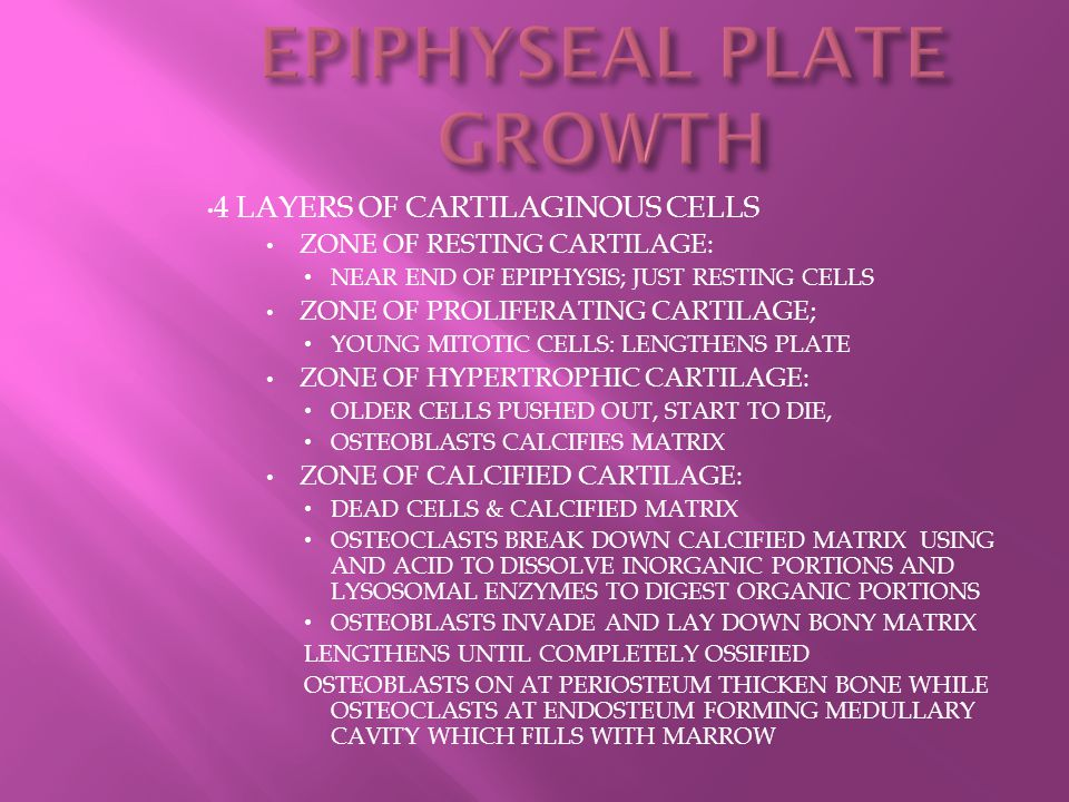 EPIPHYSEAL PLATE GROWTH
