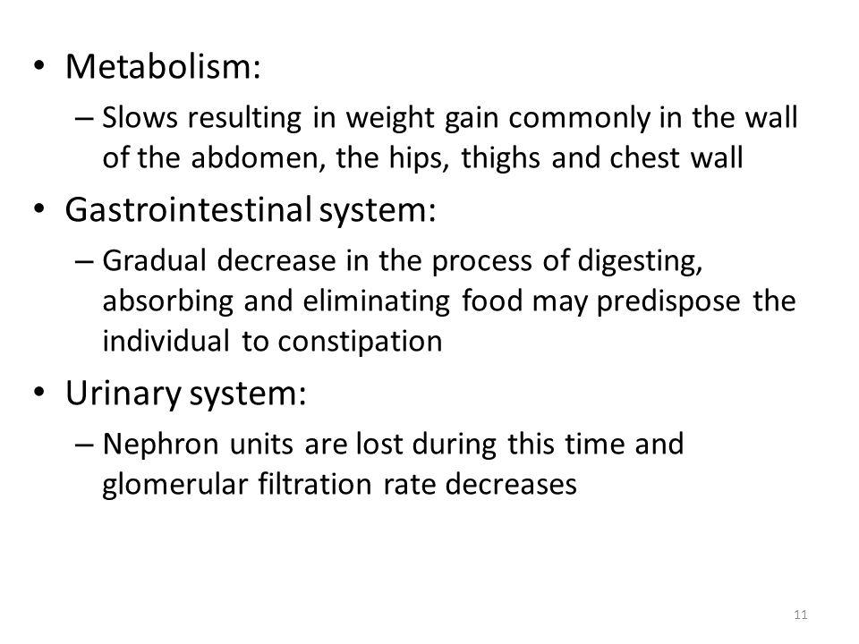 Gastrointestinal system:
