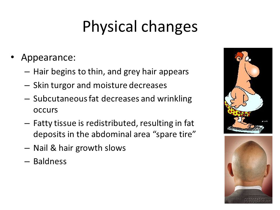 Physical changes Appearance:
