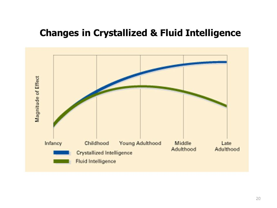 Changes in Crystallized & Fluid Intelligence