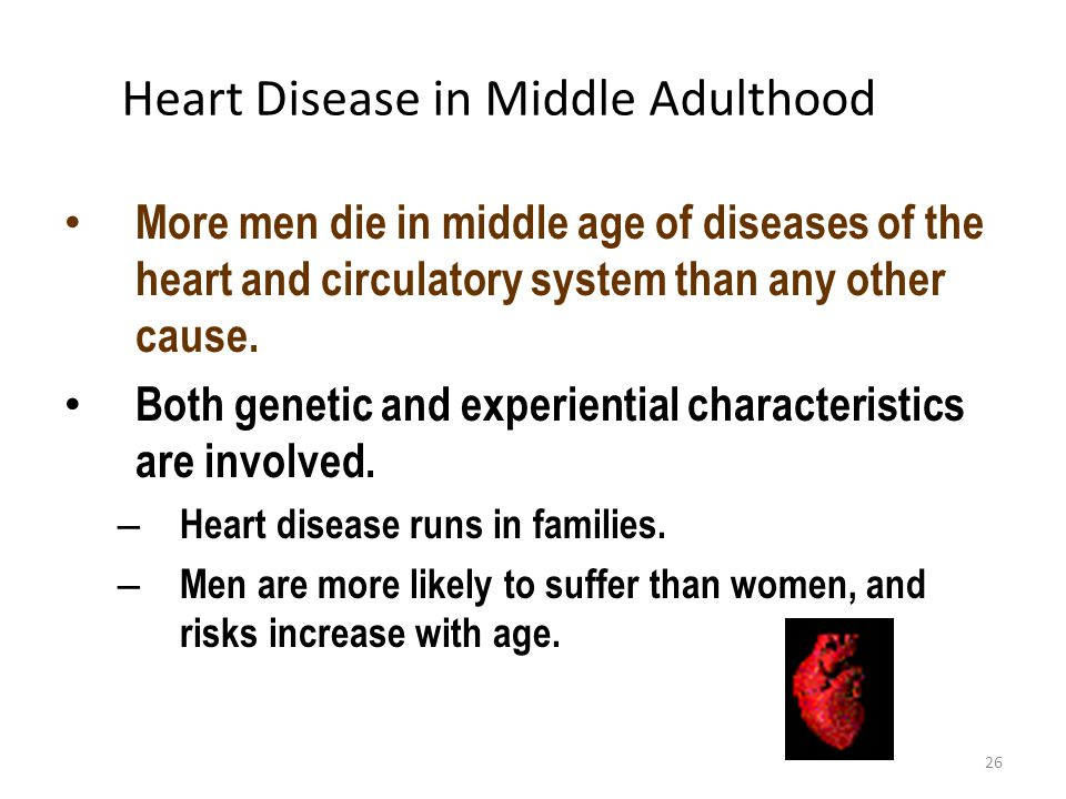 Heart Disease in Middle Adulthood