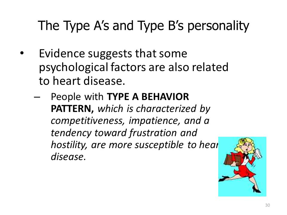 The Type A's and Type B's personality