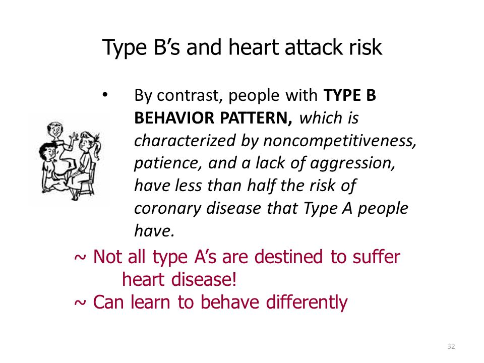 Type B's and heart attack risk