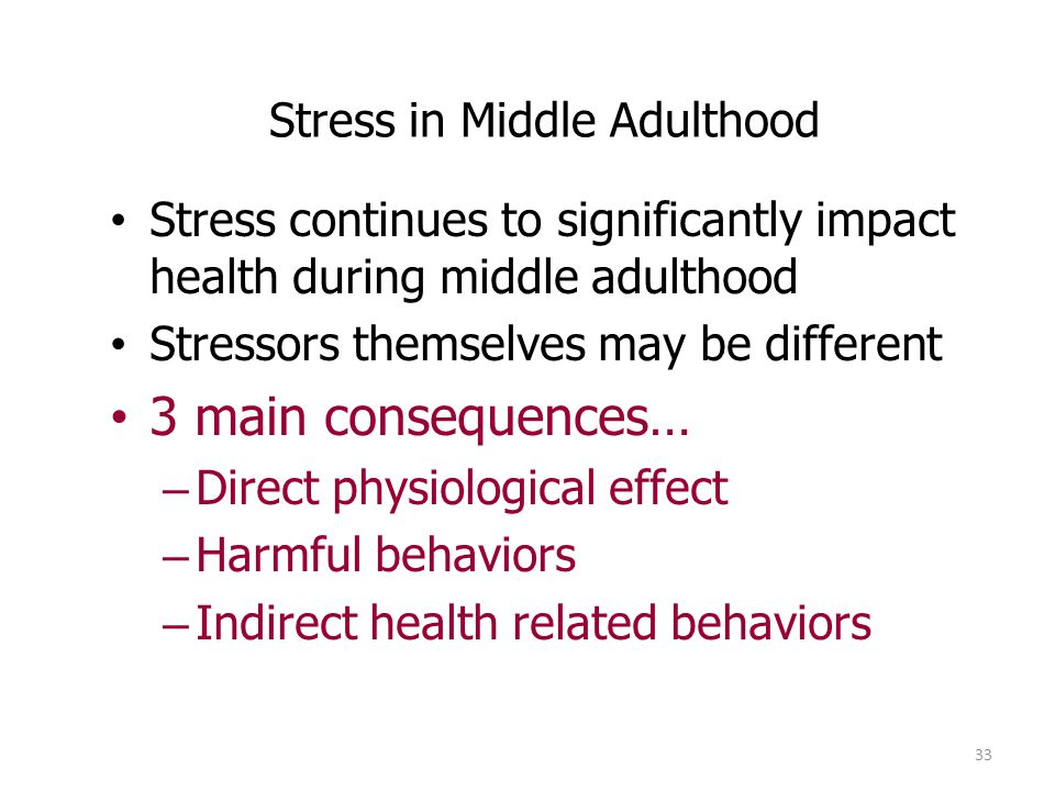 Stress in Middle Adulthood