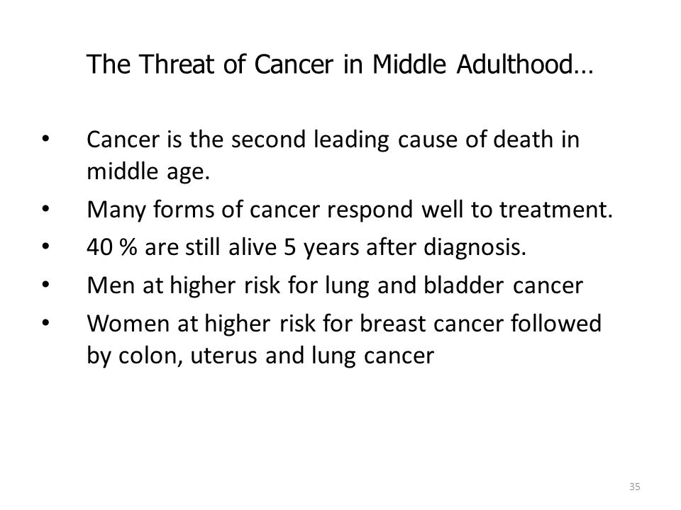 The Threat of Cancer in Middle Adulthood…