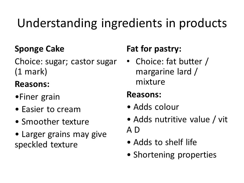 Understanding ingredients in products