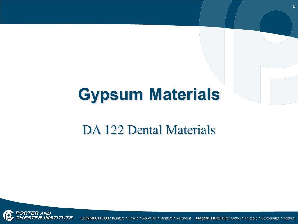 Gypsum Materials DA 122 Dental Materials