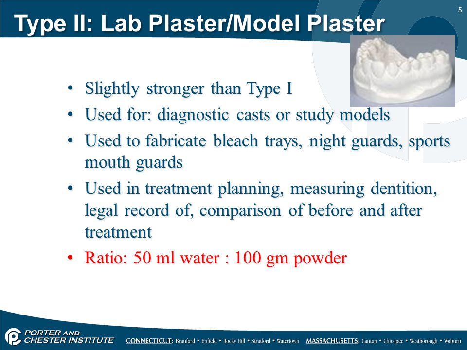 Type II: Lab Plaster/Model Plaster
