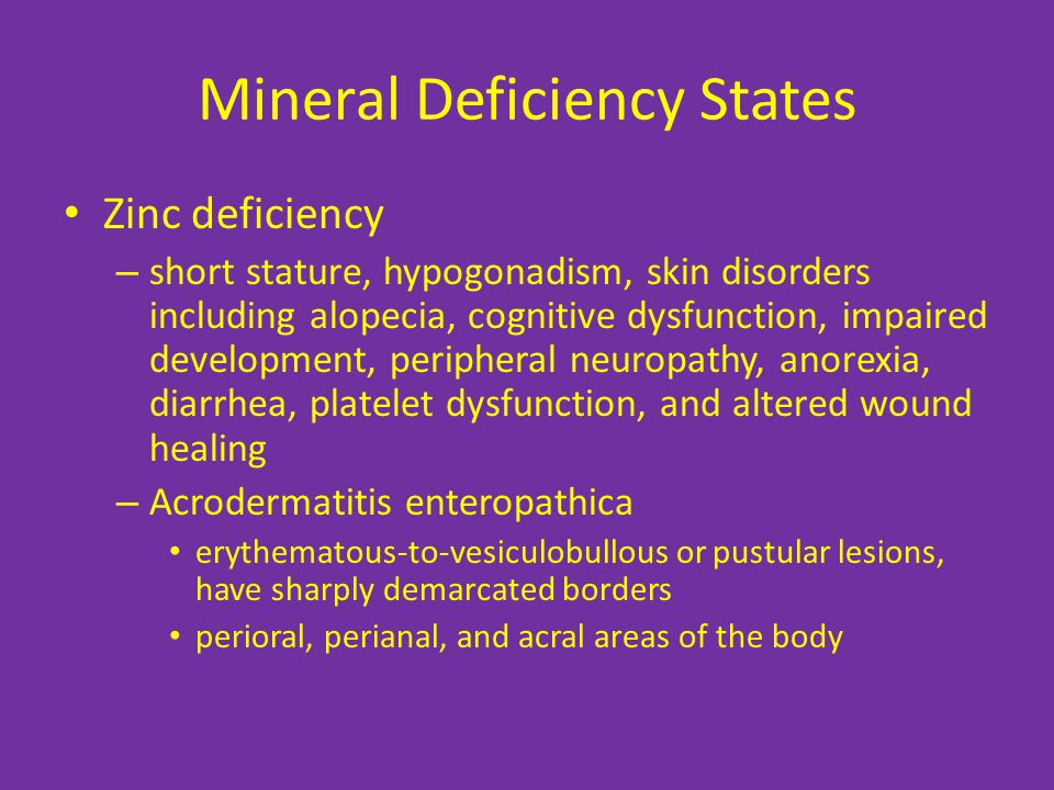 Mineral Deficiency States