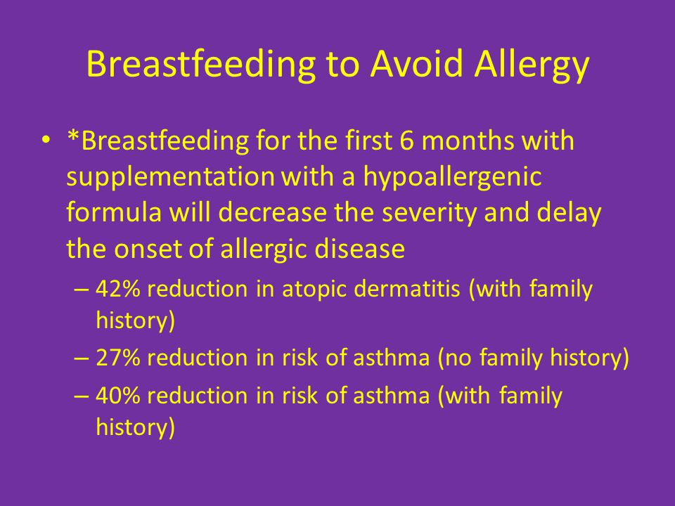 Breastfeeding to Avoid Allergy