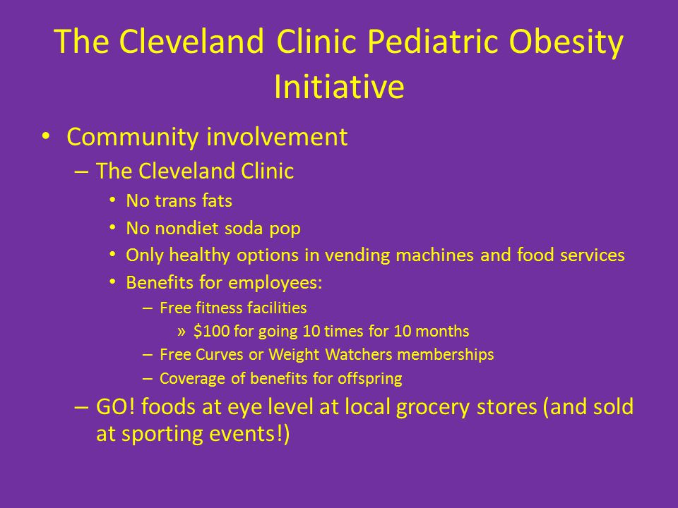 The Cleveland Clinic Pediatric Obesity Initiative