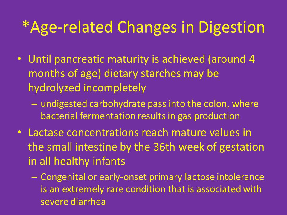 *Age-related Changes in Digestion