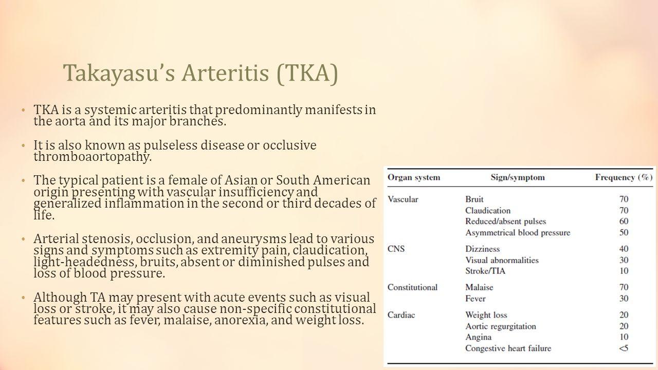 Takayasu's Arteritis (TKA)