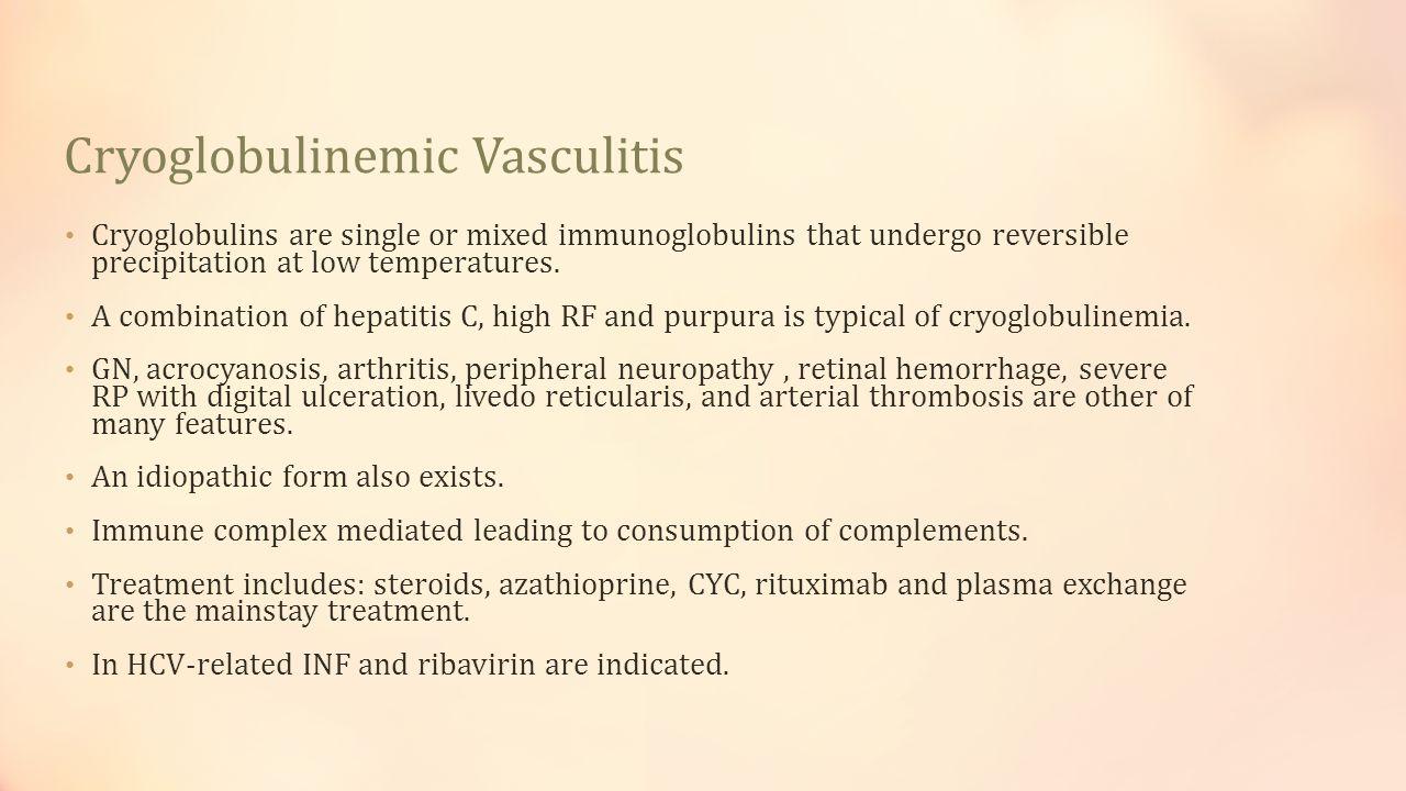 Cryoglobulinemic Vasculitis