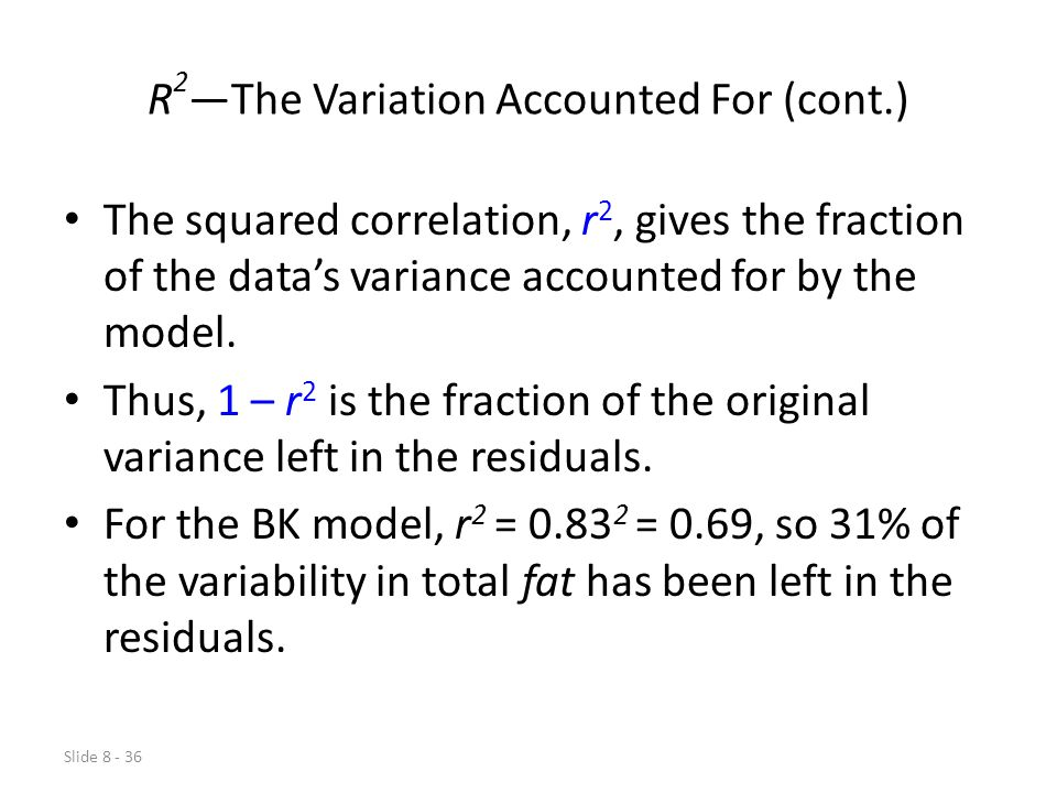 R2—The Variation Accounted For (cont.)