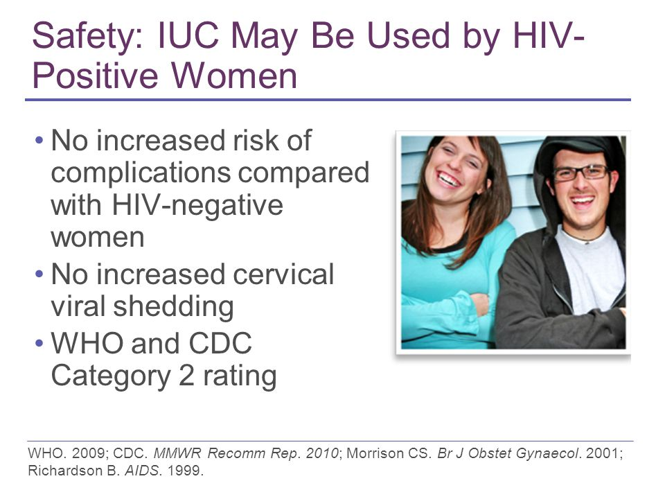 Safety: IUC May Be Used by HIV- Positive Women