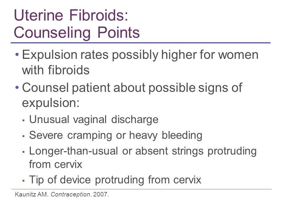 Uterine Fibroids: Counseling Points