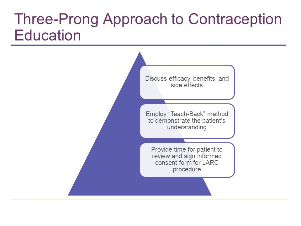 Three-Prong Approach to Contraception Education
