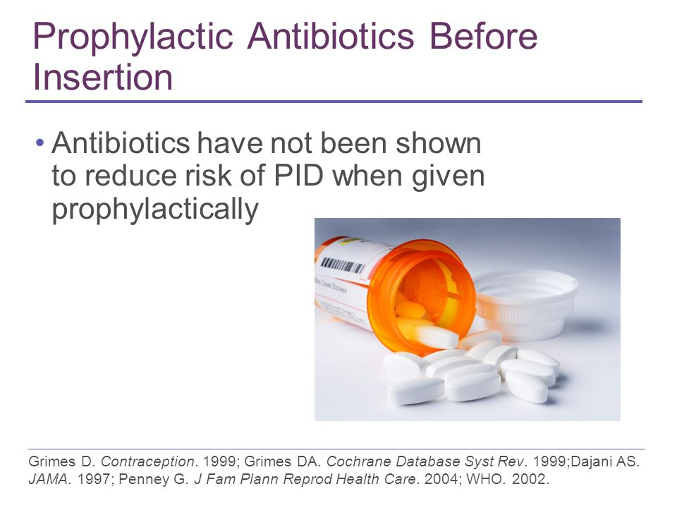 Prophylactic Antibiotics Before Insertion